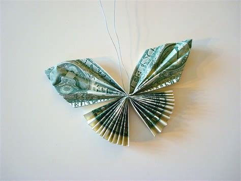 dollar bill butterfly origami once upon a pink moon tutorial how to make a