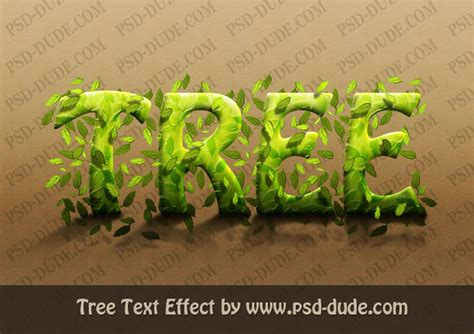 photoshop text effects photoshop tree text effect tutorial