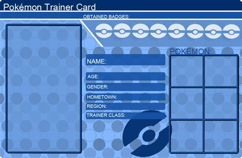make a trainer card free trainer card template blue by khfant on deviantart