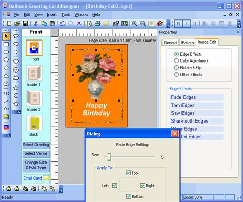 Birthday Card Creator Free Software Bingo Card