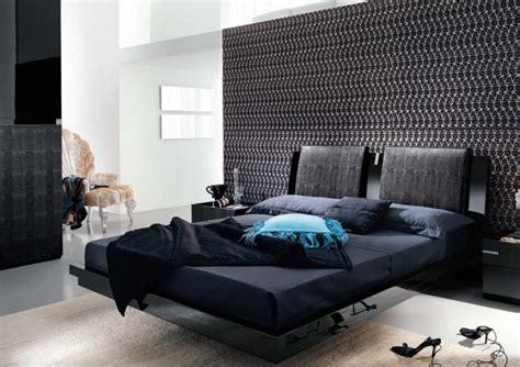 modern black bedroom furniture black interior bedroom design ideas mosaic wallpaper