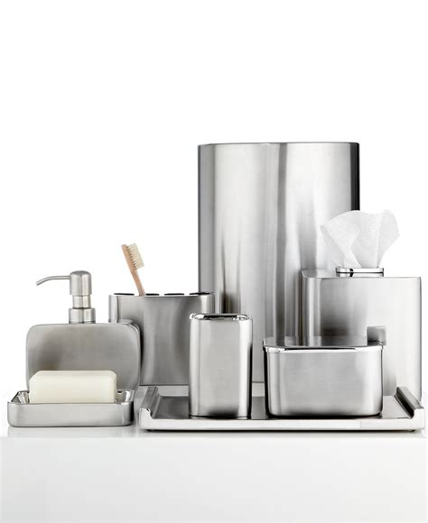 hotel collection bathroom accessories closeout hotel collection hotel modern brushed stainless