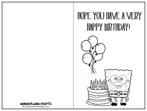 make a birthday card free printable crafts despicable me
