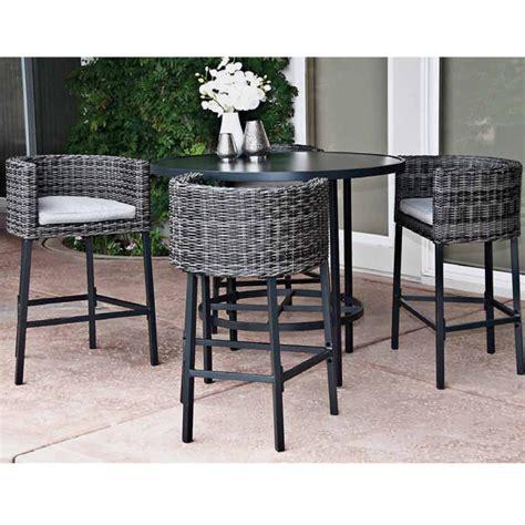 high patio dining set 5 leisure la danta dining set by leisure select