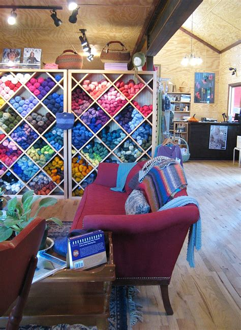 knit shop fluffy flowers pickles in the yarn store