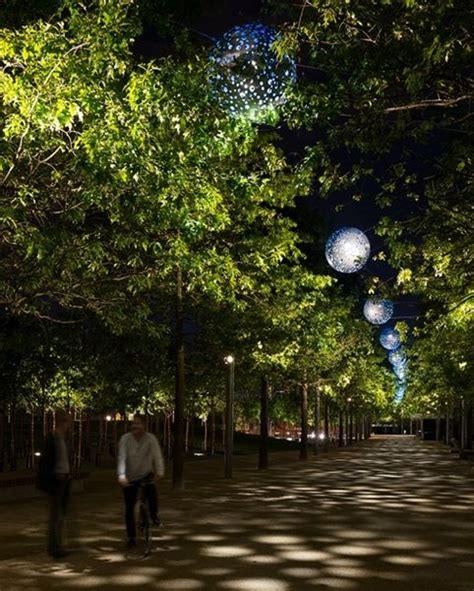 lights parks elizabeth olympic park realm lighting