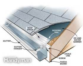 how to put gutters on a house how to install gutters the family handyman