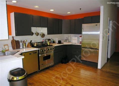 deco cuisine orange et gris