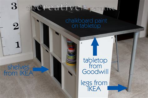ikea craft table the creative imperative craft room desk with shelves