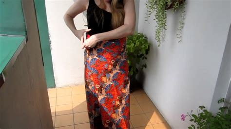 how to use thai how to wear a thai sarong