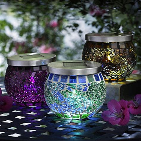 solar mosaic garden lights mosaic solar lights in garden lighting and ornaments at