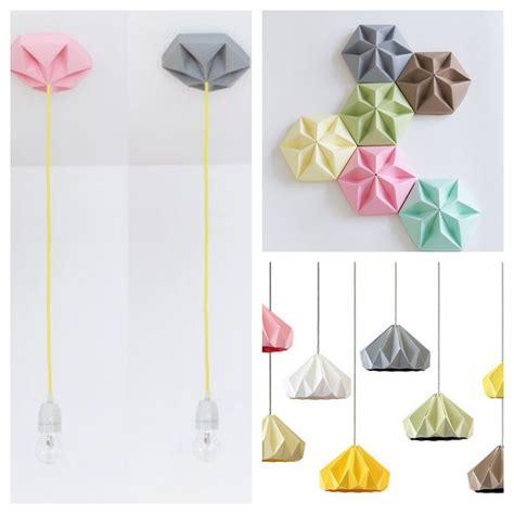 origami lights origami lights and wooden ls mad about the house