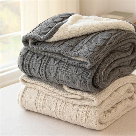 how to finish a knitted blanket factory direct blanket autumn winter faux fur grey car