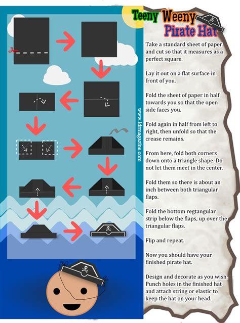 pirate hat origami 19 best printemps des sens images on