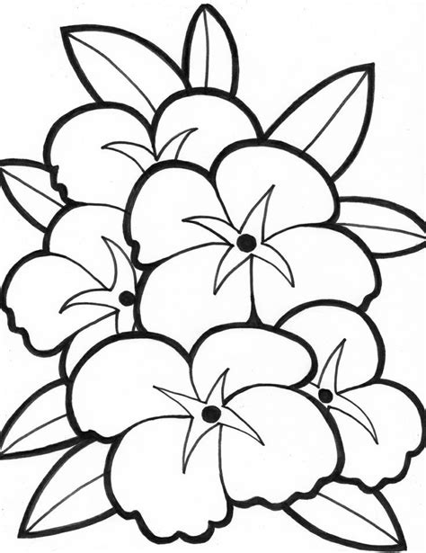 coloring book pictures of flowers simple flower coloring pages coloring home