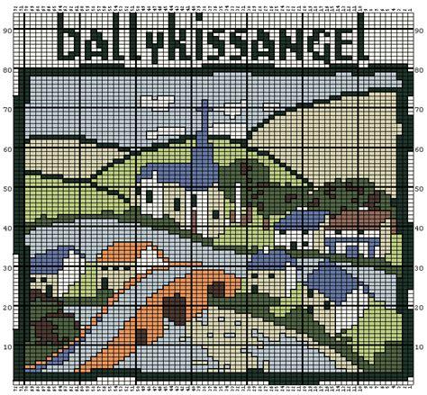 knitting chart free knitting chart ballykissangel logo