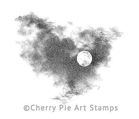 cherry pie rubber sts moon and clouds cling rubber st by cherry pie