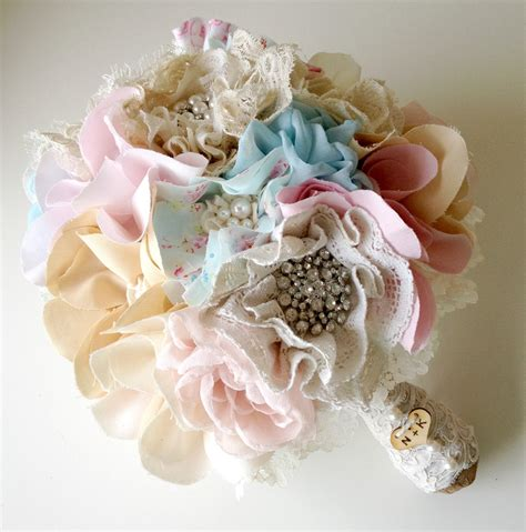 shabby chic bouquet items similar to fabric wedding bouquet shabby chic