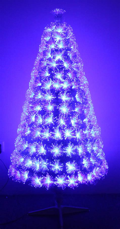 black fiber optic tree the white blue ripple effect fibre optic tree 4ft to 6ft