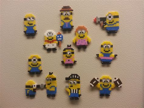 small perler items similar to small perler minion bead sprites on etsy