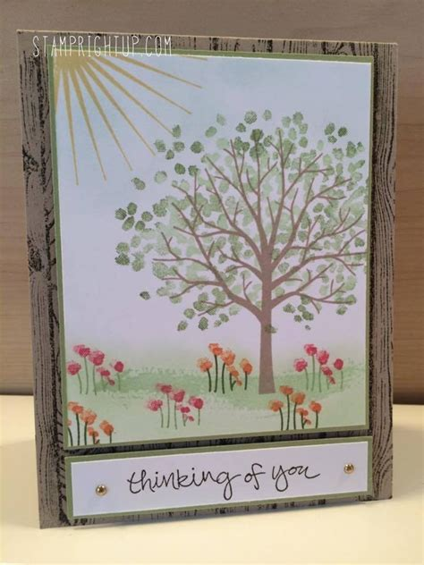 card ideas stin up stin up sheltering tree card tutorial