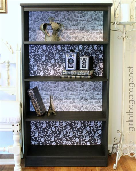 decoupage bookcase diy decoupage bookcase in the garage