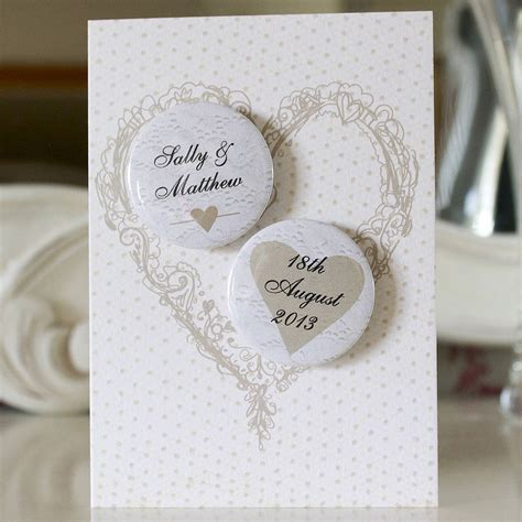 wedding card personalised mini magnets wedding card by bedcrumb
