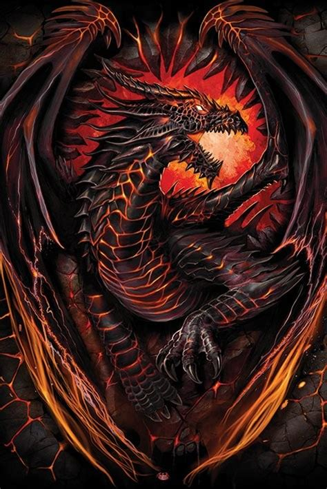 Wall Murals Stickers spiral dragon furnace poster sold at europosters
