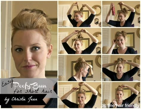 tutorial thin hair hairstyles full top knot for short or thin hair somewhat simple
