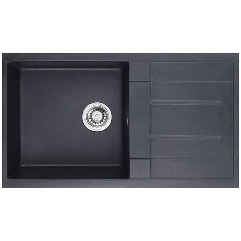 bunnings kitchen sinks blanco bowl noir 860 granite composite sink 1 bowl 1 drainer