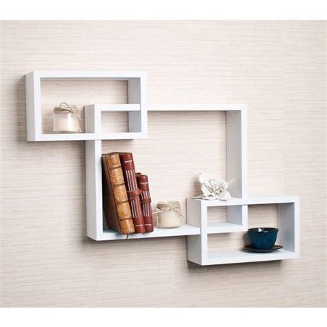 unique shelves unique wall shelf wood white contemporary floating shelves