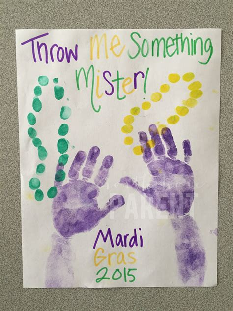 mardi gras crafts for mardi gras handprint craft northshore parent