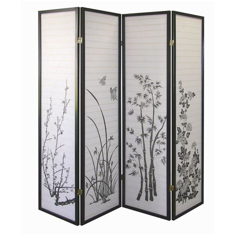 ore international floral 4 panel room divider by oj