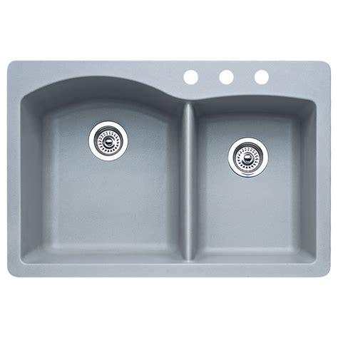 kitchen sinks drop in shop blanco 22 in x 33 in metallic grey