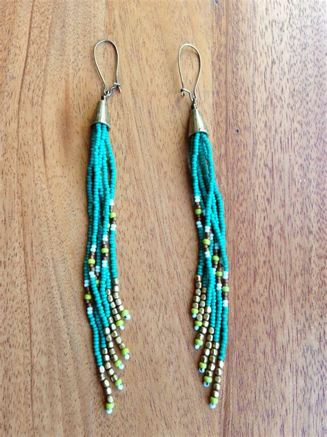 how to bead earrings with seed seed bead earrings seed bead earrings fringe