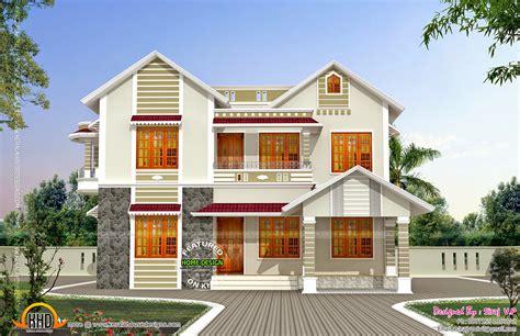 kerala home design floor plan front side elevation house kerala home design floor plans