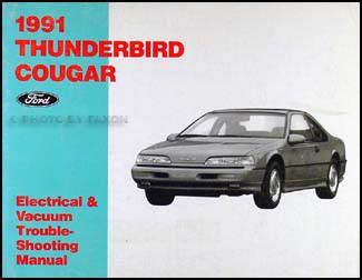 electric and cars manual 2003 ford thunderbird auto manual 1991 thunderbird and cougar electrical and vaccuum manual ford mercury ebay