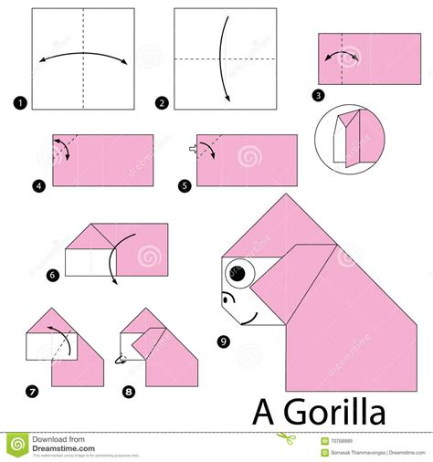 how to make origami cards step by step step by step how to make origami a gorilla