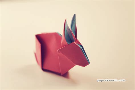 origami with origami bunny rabbit tutorial diagram paper kawaii