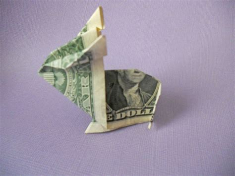 money origami how to how to make an origami bunny out of money