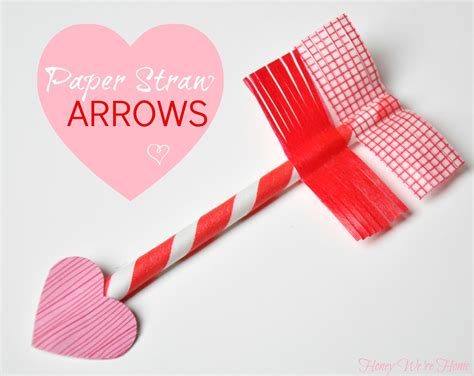 paper craft valentines s day craft paper straw washi arrows