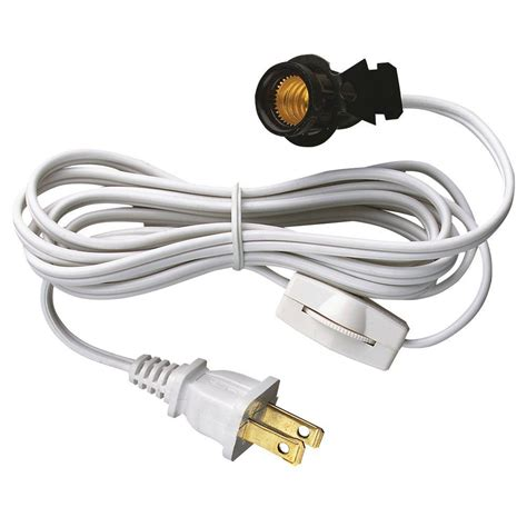 cord light socket westinghouse 6 ft cord set with snap in pigtail