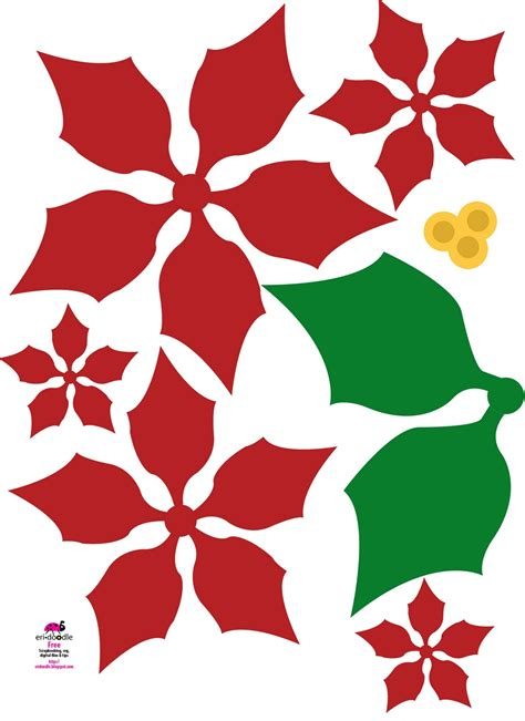 poinsettia paper craft poinsettia leaf pattern template search results