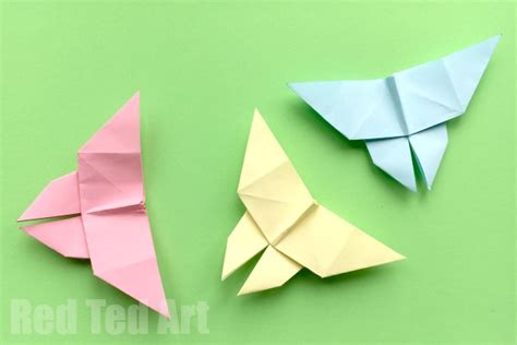 origami simple butterfly how to make an origami butterfly simple ted s