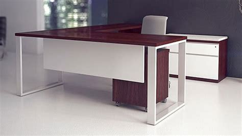 modern l shaped office desk modern at two l shaped desk pedestal credenza