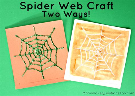 how to make a spider web craft for two spider web crafts