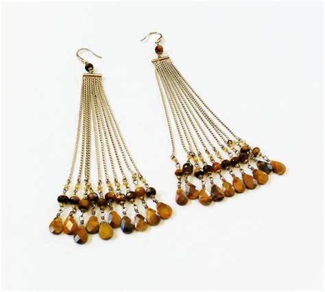 beaded dangle earrings beaded dangle earrings tiger eye by