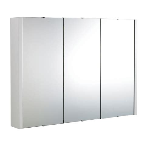 White Mirrored Bathroom Cabinet by 3 Door Mirrored Bathroom Cabinet White Bathroom