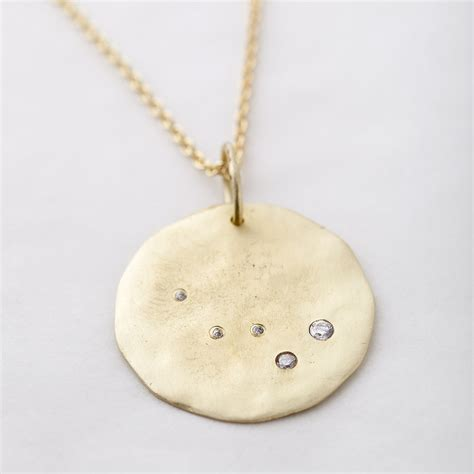 large for jewelry roost large constellation pendant necklace womens apparel