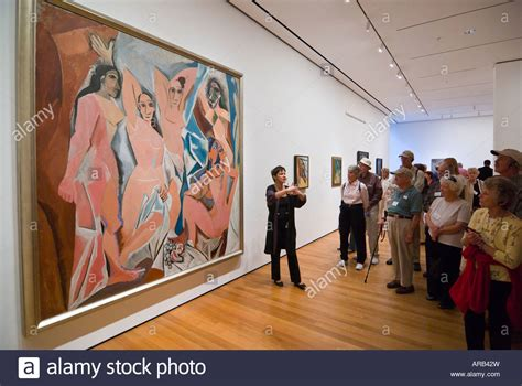 picasso paintings in nyc lecturer in front of les demoiselles d avignon by picasso